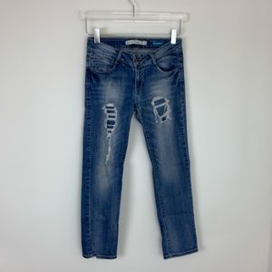 Zara Ripped Distressed Stetchy Skinny Jeans Size 4